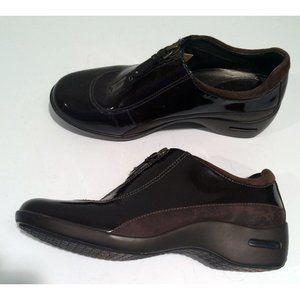 Cole Haan Waterproof Shoes 7B Nike Air Sole Brown